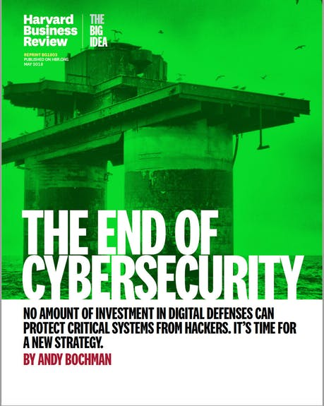 HBR EndofCybersecurity