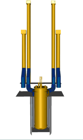 D Model for Dimensions Cutout Blue