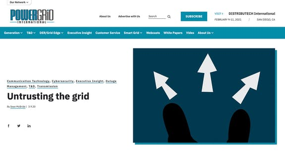 CCE Powergrid article