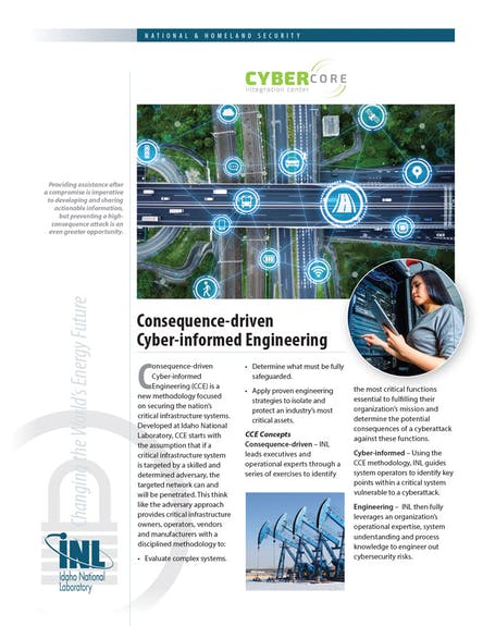 Consequence-driven-Cyber-informed-Engineering Fact Sheet