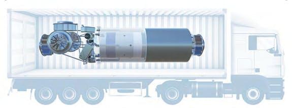 Microreactor, truck, power