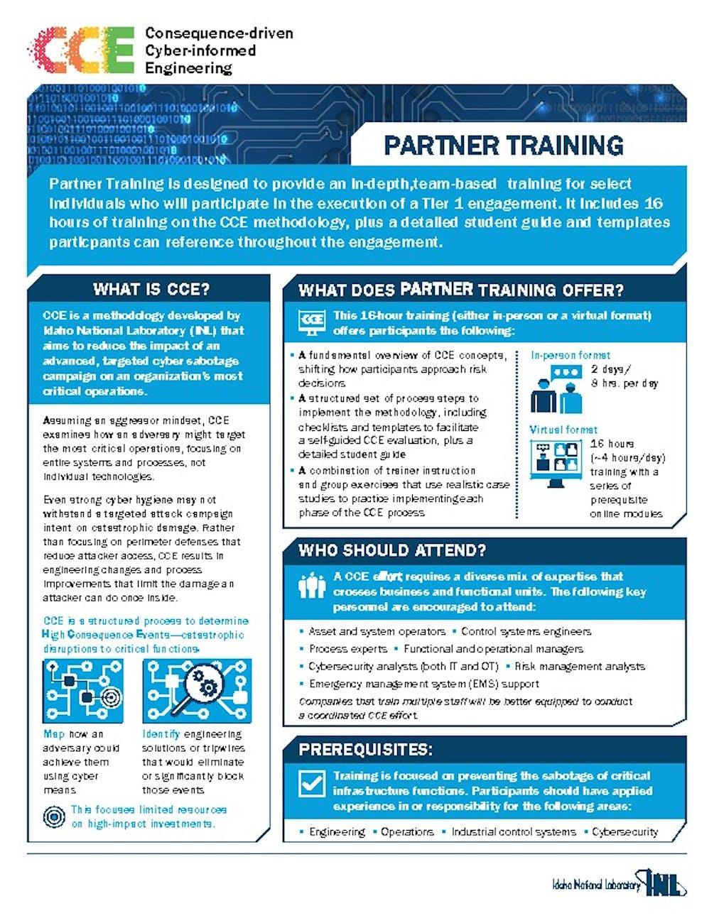 CCE FactSheets PartnerTraining    pdf image