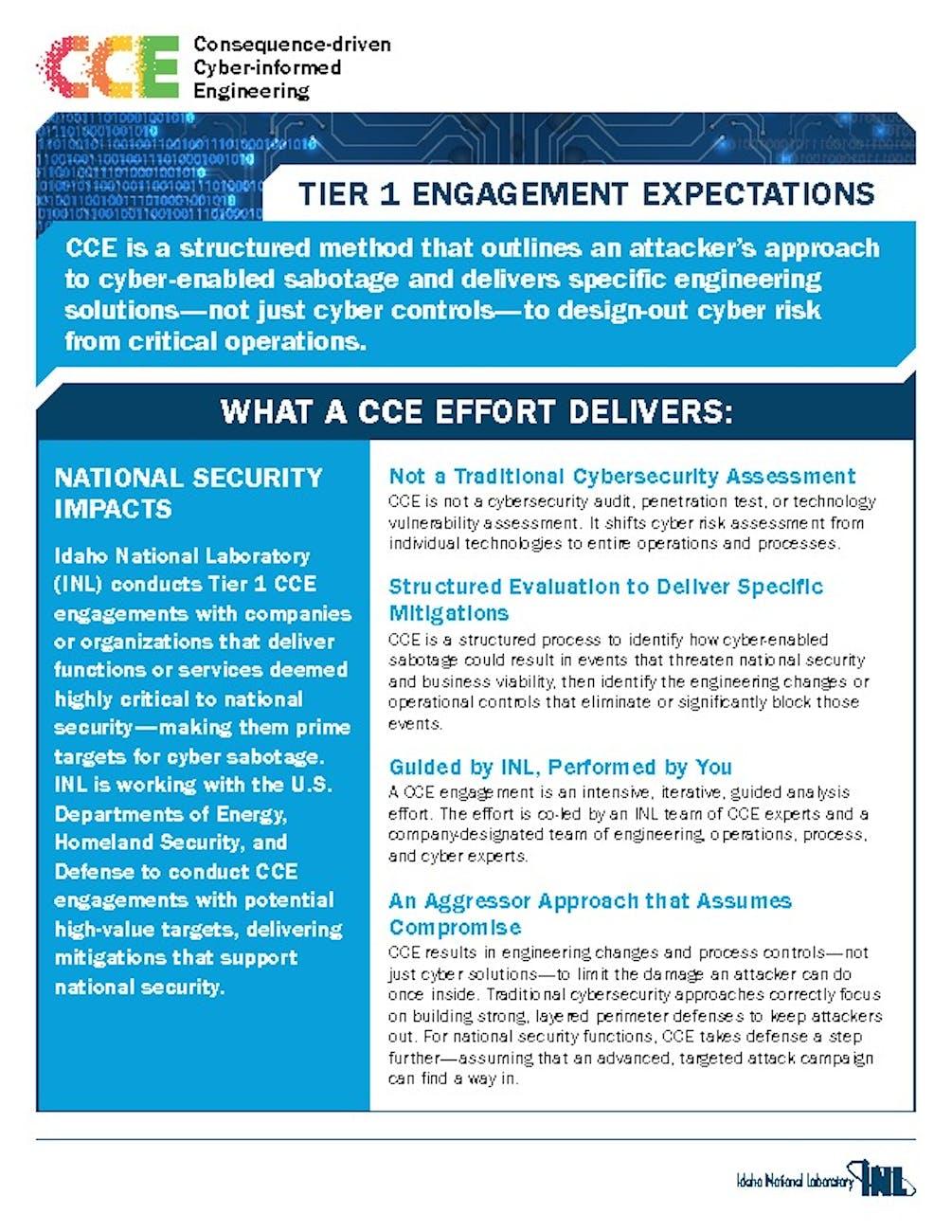 CCE FactSheets Tier Engagement    pdf image