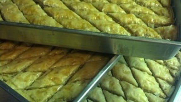 A picture of Baklava prepared by Gretchen O'Bleness.