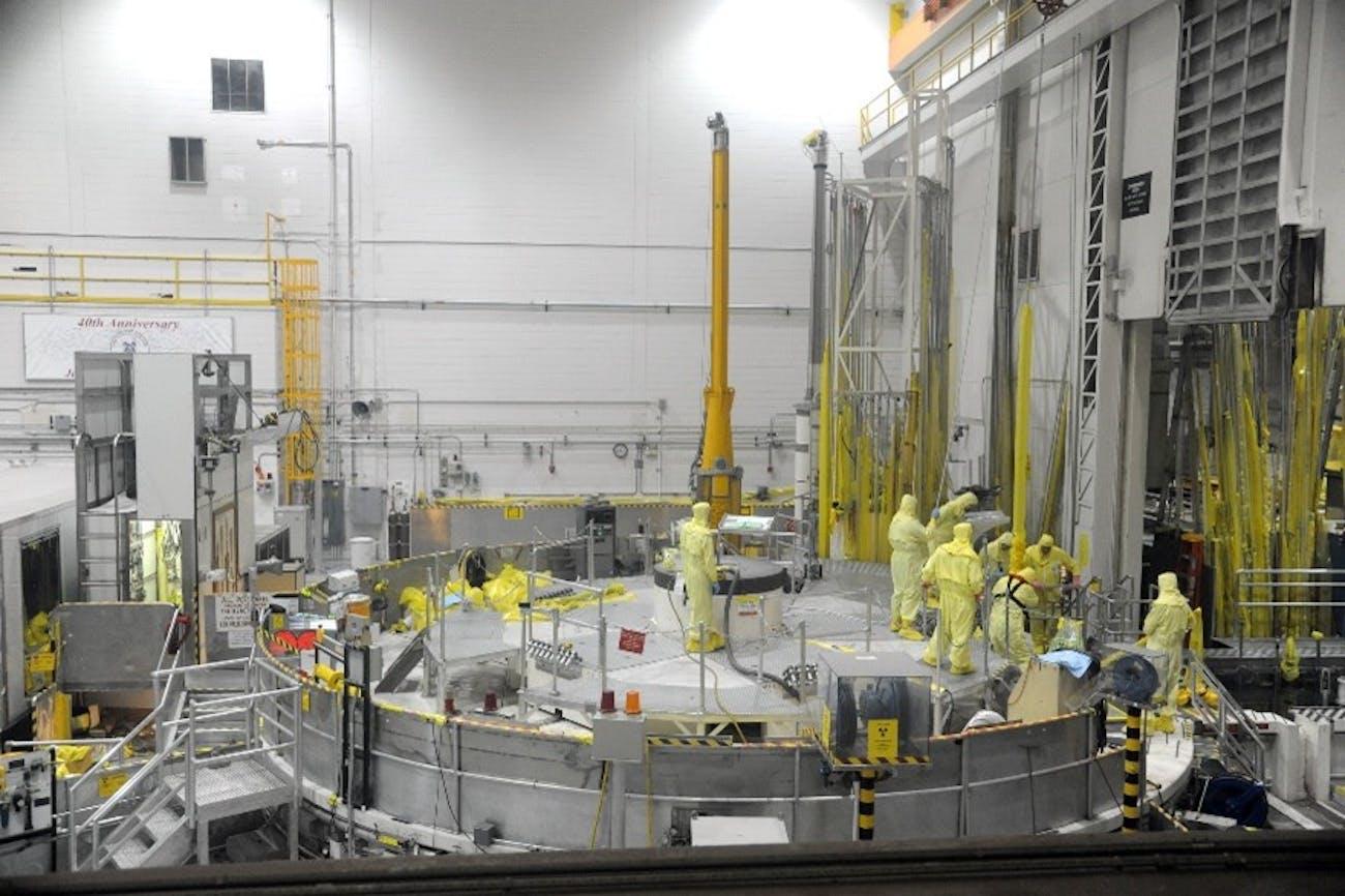 Advanced Test Reactor, ATR, Cherenkov Effect, nuclear reactor, inside of nuclear reactor