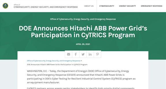 https://www.energy.gov/ceser/articles/doe-announces-hitachi-abb-power-grids-participation-cytrics-program