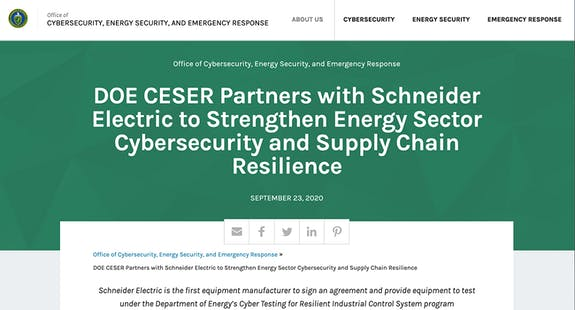 https://www.energy.gov/ceser/articles/doe-ceser-partners-schneider-electric-strengthen-energy-sector-cybersecurity-and